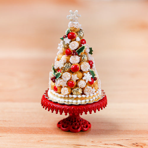 French Croquembouche for Christmas / Holidays - Miniature Food