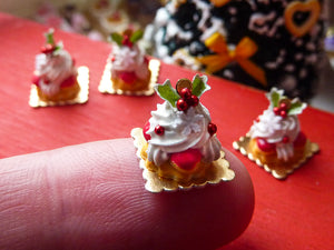 Christmas St Honore - Miniature French Pastry in 12th Scale