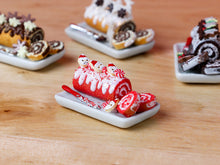 Load image into Gallery viewer, Red Velvet Christmas Swiss Roll (Gateau Roulé) - Santa Cookies -  Miniature Food