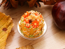 Load image into Gallery viewer, Cookie Leaf Cake for Autumn / Fall / Halloween - 12th Scale Miniature Food