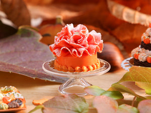 Feuille d'automne French Ruffle Cake - Orange Version for Autumn - Miniature Food