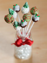 Load image into Gallery viewer, Christmas Cake Pops with Glass Presentation Jar - Miniature Food