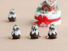 Load image into Gallery viewer, Christmas Pudding Religieuse Pastry - Individual French Christmas Pastry - Miniature Food