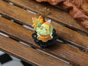 Autumn Showstopper Cupcake - Caramel Tree, Autumn Leaf Cookie, Candy Corn, Frog (L)