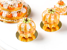 Load image into Gallery viewer, Pumpkin Sandwich Pound Cake with Pumpkin Cream Filling - All Fixed to Board - Tiny Miniature Food