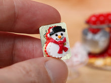 Load image into Gallery viewer, Snowman Christmas Cake - 12th Scale Miniature Food