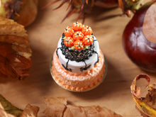 Load image into Gallery viewer, Spiders and Swirls - Beautiful Three Tiered Cake Decorated for Autumn / Halloween - 12th Scale Miniature Food