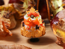 Load image into Gallery viewer, Two Tiered Cookie Leaf Cake for Autumn - 12th Scale Miniature Food