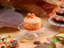 Load image into Gallery viewer, Arabesque Swirls Miniature Cake with Candy Pumpkins for Autumn Fall