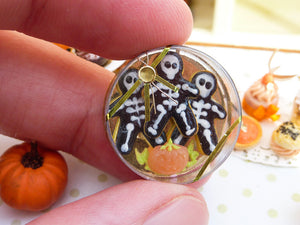 Skeleton Cookies for Halloween Fall / Autumn - 12th Scale Miniature Food