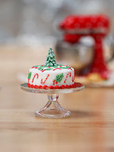 Load image into Gallery viewer, Beautiful Christmas Cake - Tree, Candy Canes, Holly Decoration - Miniature Food