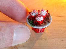 Load image into Gallery viewer, Christmas Cappuccinos, Gingerbread Man, Reindeer, Wrapped Candy - Miniature Food