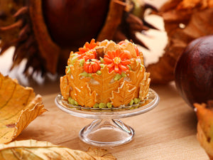 Cookie Leaf Cake for Autumn / Fall / Halloween - 12th Scale Miniature Food