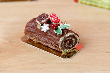 Load image into Gallery viewer, Traditional Dark Chocolate Yule Log / Bûche de Noël - Miniature Food