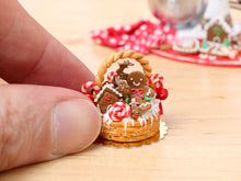 Load image into Gallery viewer, Christmas Basket Cake Filled with Gingerbread Treats - Miniature Food
