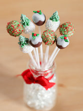 Load image into Gallery viewer, Christmas Cake Pops with Glass Presentation Jar - Set 1 - Miniature Food