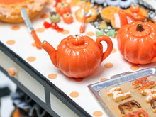 Load image into Gallery viewer, Miniature Pumpkin Teapot for Autumn / Fall / Halloween - 12th Scale