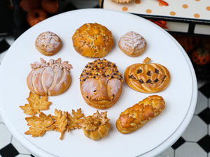 Selection of Autumn Breads - Miniature Food in 12th Scale