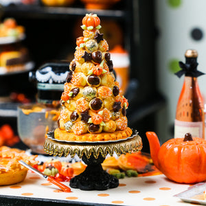 French Croquembouche for Autumn / Fall / Thanksgiving - Miniature Food