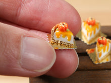 Load image into Gallery viewer, Slice of Pumpkin Cheesecake for Autumn/Fall - 12th Scale French Miniature Food