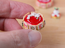 Load image into Gallery viewer, Christmas Cake - NOËL Letter Cookies - A - 12th Scale Miniature Food