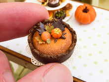 Load image into Gallery viewer, Chocolate and Orange Cheescake for Fall / Autumn - 12th Scale Miniature Food