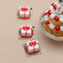 Load image into Gallery viewer, Christmas Present Gift Pastry - 12th Scale Miniature Food