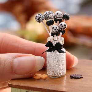 Miniature Halloween Cake Pops including Jack Skellington style - Miniature Food