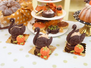 French Pastry Swan for Autumn - 12th Scale French Miniature Food