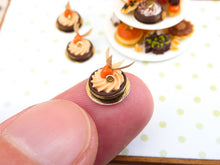 Load image into Gallery viewer, Physalis (Winter Cherry) Mousse Tartlet - 12th Scale French Miniature Food