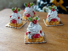 Load image into Gallery viewer, Christmas St Honore - Miniature French Pastry in 12th Scale