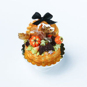 Autumn Basket Cake Filled with Awesome Treats - Miniature Food