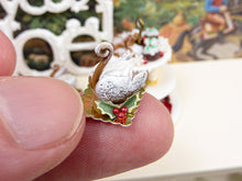 Load image into Gallery viewer, Gingerbread Swan - Individual Christmas Pastry - 12th Scale Miniature Food