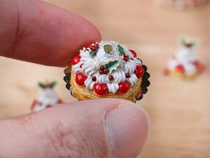 Christmas St Honoré French Pastry - 12th Scale Miniature Food