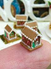 Load image into Gallery viewer, Tiny Gingerbread House - Individual Christmas Pastry - 12th Scale Miniature Food