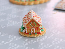 Load image into Gallery viewer, Christmas Cookie House with Hand-piped Details - Miniature Food