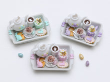 Load image into Gallery viewer, Easter Treats Teatime Tray - Choice of Pink, Lilac or Aqua/Turquoise