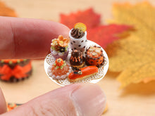 Load image into Gallery viewer, Presentation of Fall-Themed French Pastries - Miniature Food