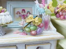 Load image into Gallery viewer, Colourful Candy Easter Eggs in Clear Round Gift Box (Large Eggs) - Handmade Miniature
