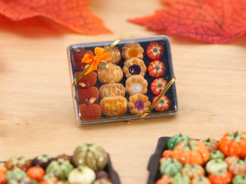 Gift Box of Autumn and Halloween Themed Treats -  Miniature Food
