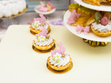 Load image into Gallery viewer, Pink Rabbit Cream Tartlet for Easter - 12th Scale Miniature Food