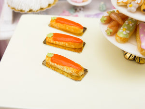 Carrot Eclair for Easter - 12th Scale Miniature Food