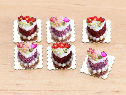 Valentine's Day Blossom Individual Pastry - Miniature Food