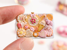 Load image into Gallery viewer, Unique Assortment of Summery Pink-Themed Sweet Miniature Treats on Tray