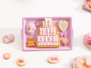 Marie-Antoinette Inspired Cookies - Parisian Bakery Cake, White Chocolate Cameo