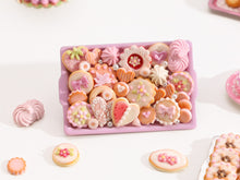 Load image into Gallery viewer, Beautiful OOAK Assortment of Pink-Themed Sweet Miniature Treats on Metal Baking Tray