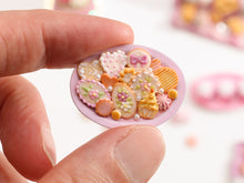Load image into Gallery viewer, Assortment of Pink-Themed Sweet Miniature Treats on Oval Tray