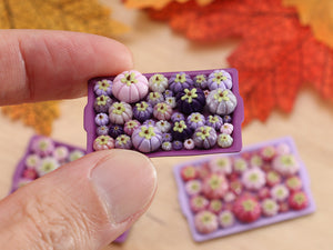 Pumpkin Tray H - Purples - OOAK Miniature Food for Autumn