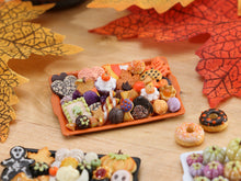 Load image into Gallery viewer, Tray of Assorted Autumn Cookies - Only One Available - OOAK Miniature Food