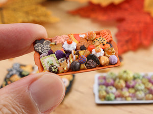 Tray of Assorted Autumn Cookies - Only One Available - OOAK Miniature Food